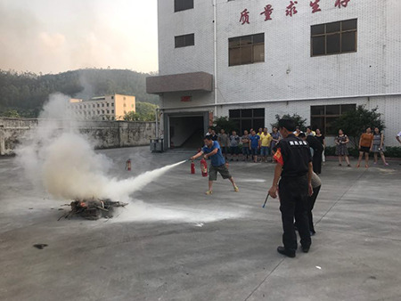 国丰塑业消防演习