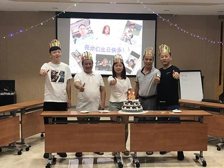 国丰塑业员工8月生日会